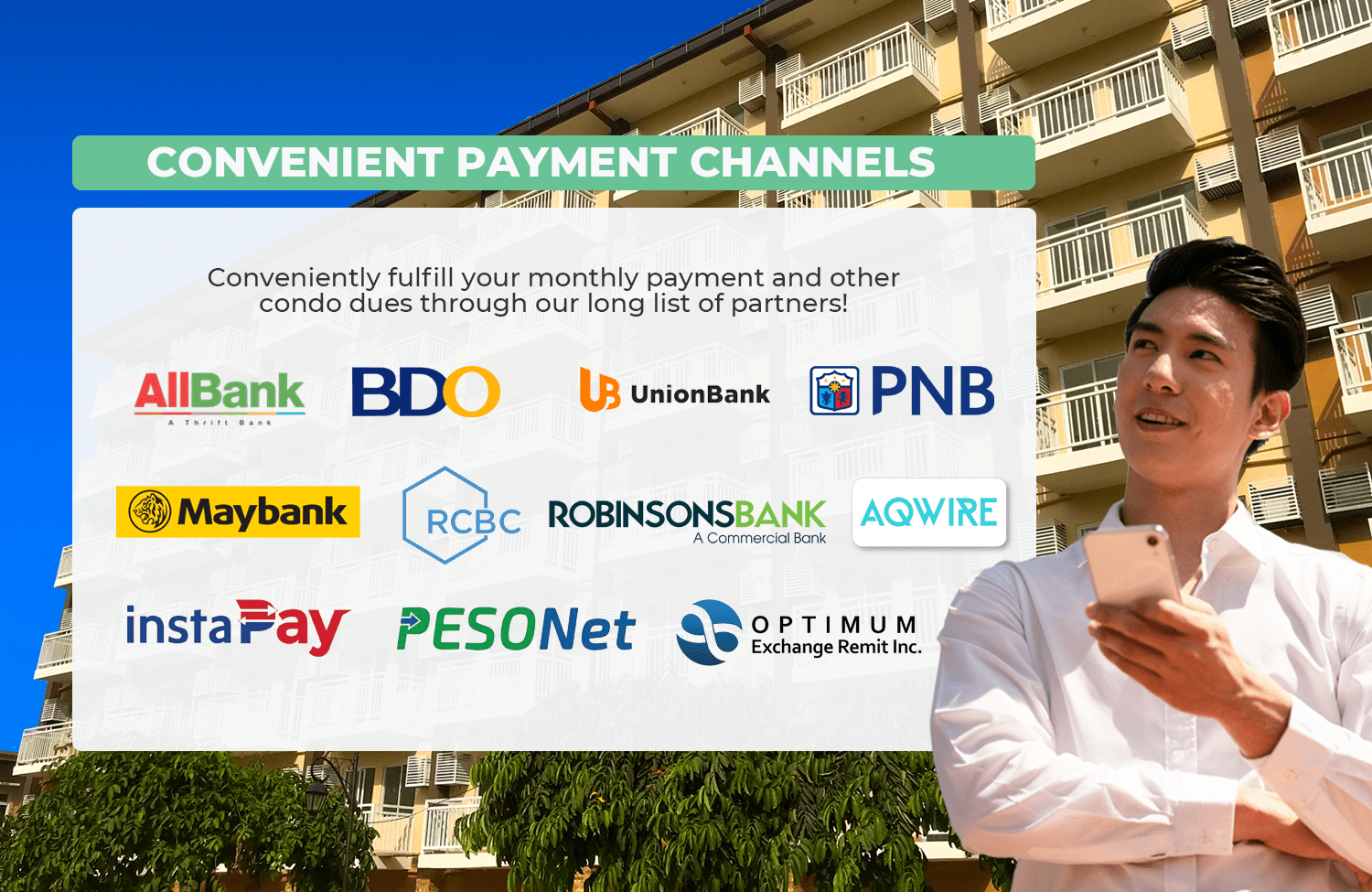 Payment Channels of Camella Manors - Condo in the Philippines