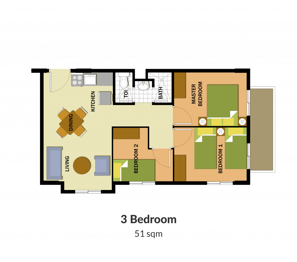 Northpoint Building 1 3 Bedroom