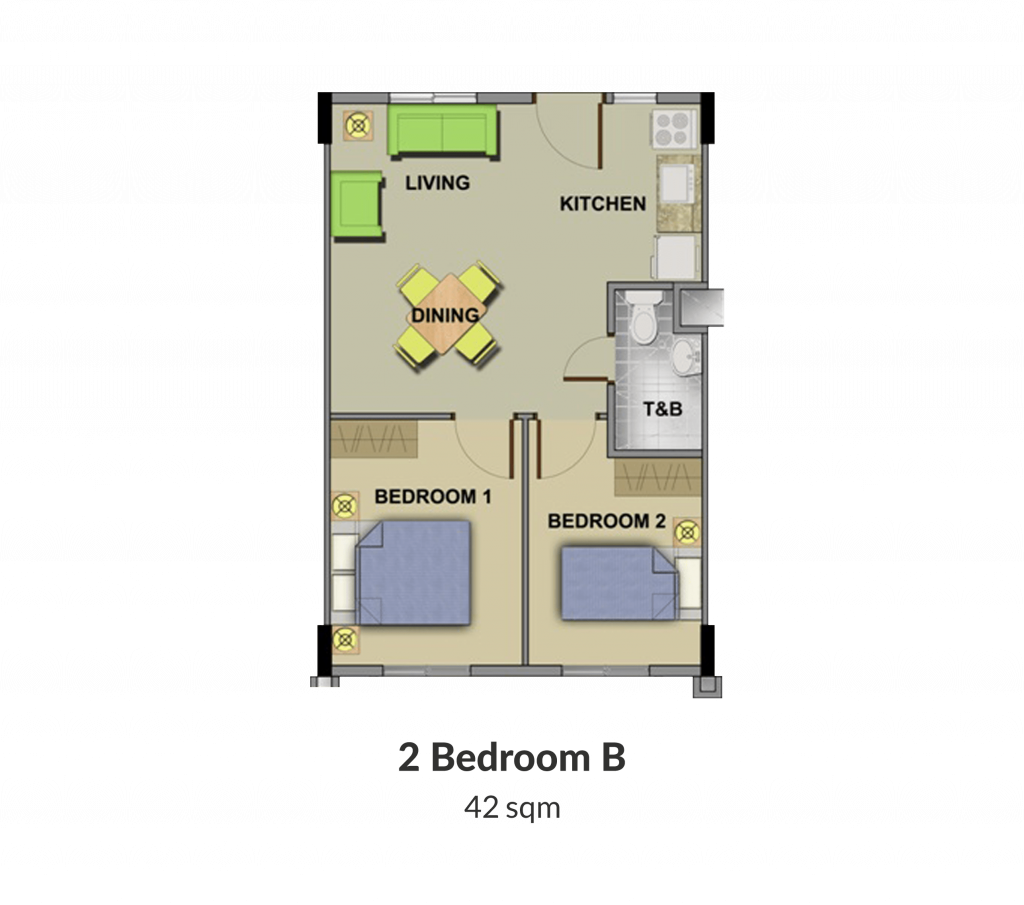 Northpoint Building 4 2 Bedroom