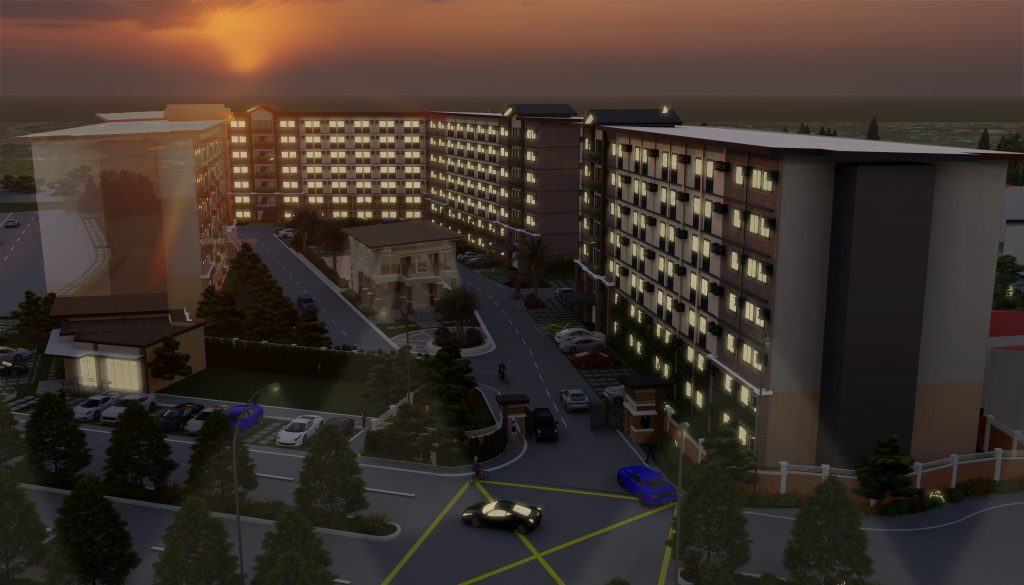 Affordable Bacolod Condo - Community Perspective at Night
