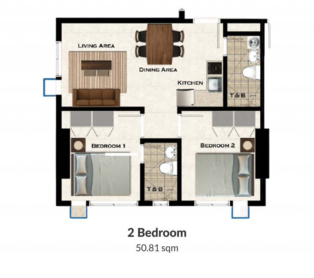 The Loop 2 Bedroom