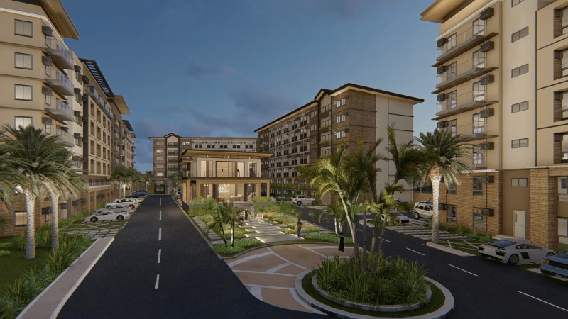 Night View of a Condo in Bacolod   Camella Manors Olvera