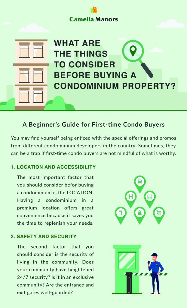 Things to Consider Before Buying a Condominium: Location and Security | Affordable Condo Philippines - Camella Manors