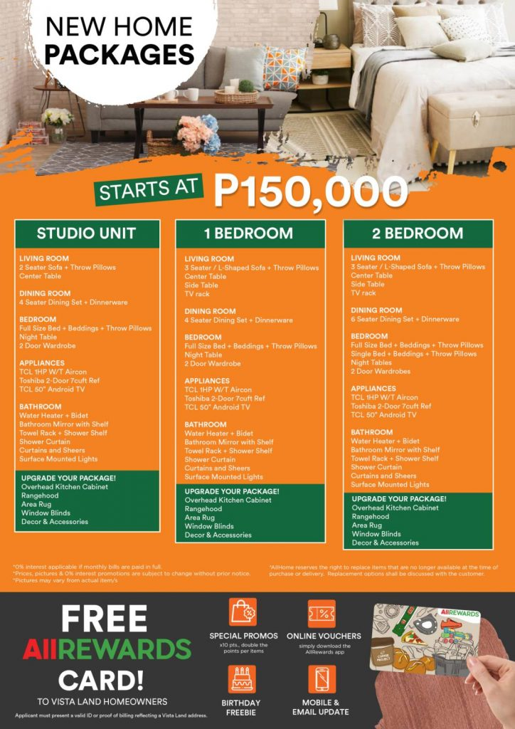 Affordable Condo Philippines - All Home - Furniture Package for Camella Manors