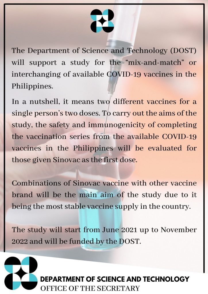 Mix and Match COVID vaccine study in the Philippines - Camella Manors - Condo in the Philippines