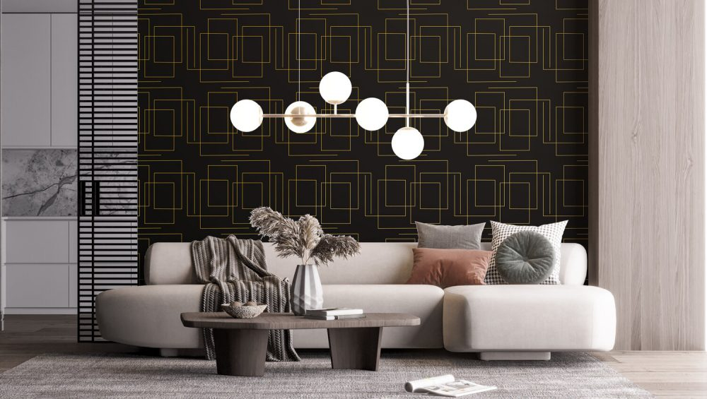 wallpaper for living room - Camella Manors