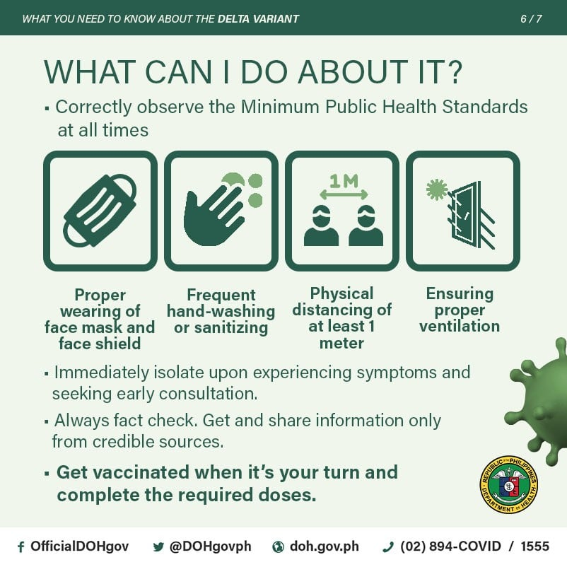 Combatting Delta Variant Cases means observing public health standards - Camella Manors - Resort-themed condo in the Philippines
