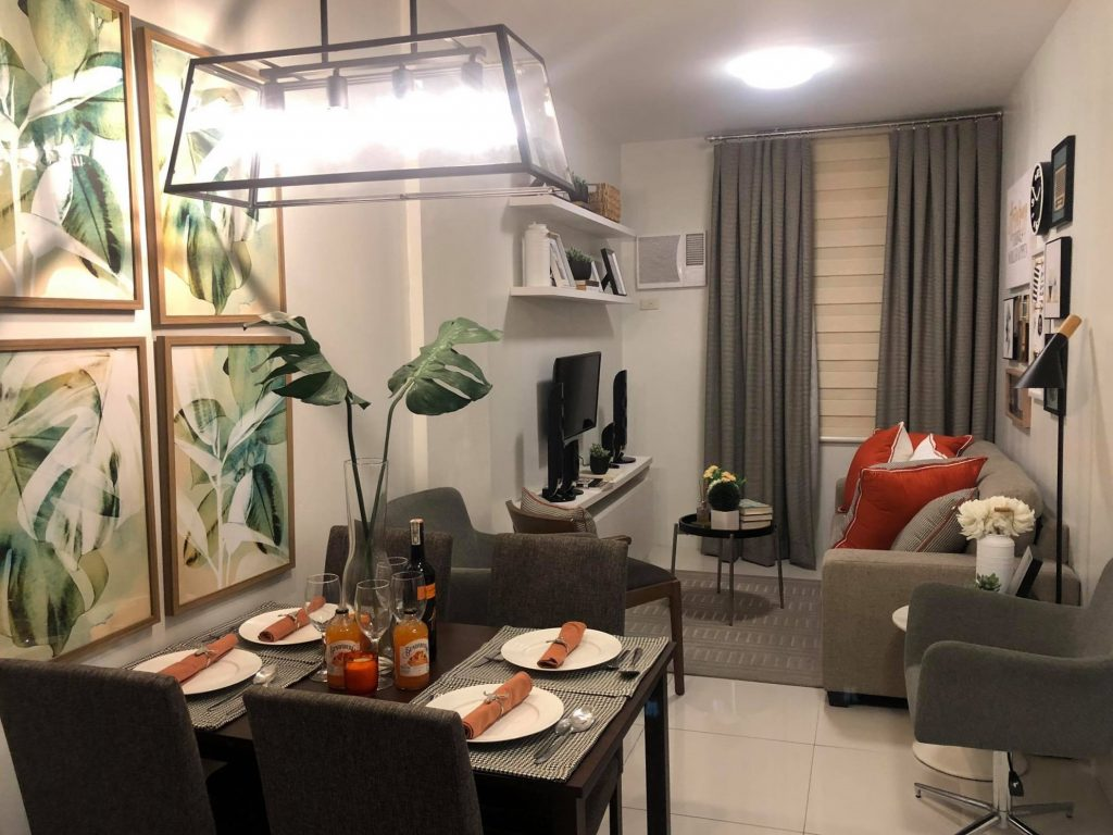 Pendant Lamps as a Ceiling Divider in Creating Smart Spaces in a Camella Manors Condo - Condo in Lipa Batangas - Camella Manors Lipa Showroom Unit