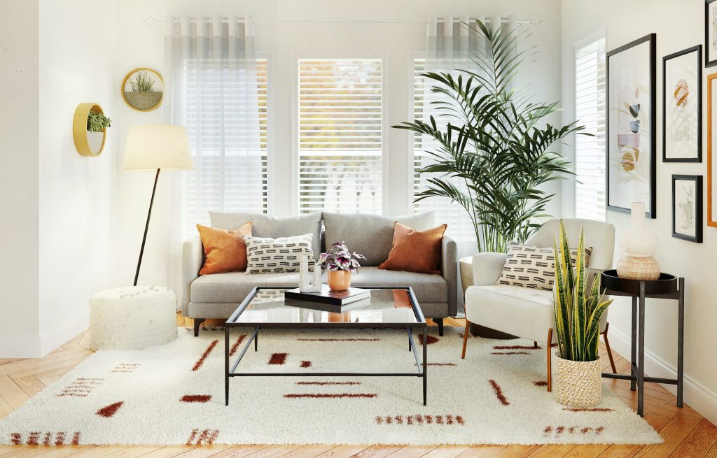 Use of Muted Colors in a Small Living Room
