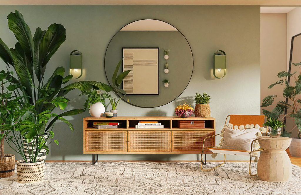 Use of Plants in a Small Living Room